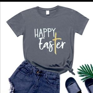 Women's Graphic Happy Easter T-Shirt